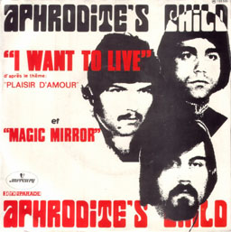 cover from the Aphrodite's Child single: I want to live & Magic mirror