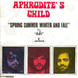 cover from the Aphrodite's Child single: Spring, Summer, winter and fall + Air