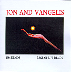 cover scan from Jon and Vangelis 1986 demos & Pages of life lyrics