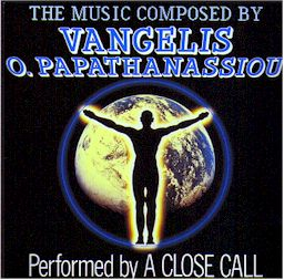 sleeve scan from A Close call: The music composed by Vangelis O. Papathanassiou. lyrics
