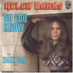 "Scan from 7"" single Helen Banks: Do you know + Hazy day (lyrics)"