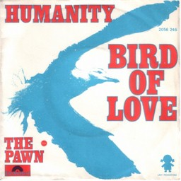 "Scan from 7"" single Humanity: Bird of love + The pawn lyrics"