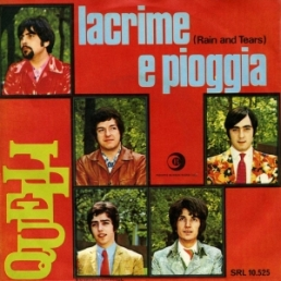 cover from Quelli single : Lacrime e pioggia lyrics