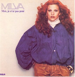 sleeve from the Vangelis and Milva album: moi je n'ai  pas peur